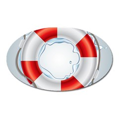 Spare Tire Icon Vector Oval Magnet