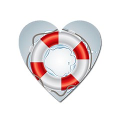 Spare Tire Icon Vector Heart Magnet