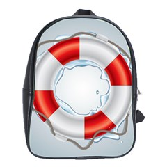 Spare Tire Icon Vector School Bag (large)