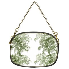 Trees Tile Horizonal Chain Purses (two Sides)