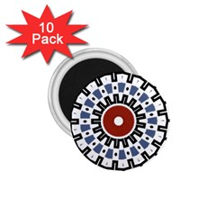Mandala Art Ornament Pattern 1 75  Magnets (10 Pack)  by Nexatart