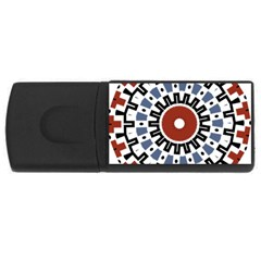 Mandala Art Ornament Pattern Rectangular Usb Flash Drive