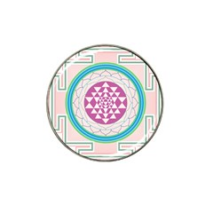 Mandala Design Arts Indian Hat Clip Ball Marker by Nexatart