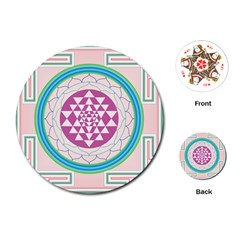 Mandala Design Arts Indian Playing Cards (round)  by Nexatart