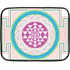 Mandala Design Arts Indian Double Sided Fleece Blanket (mini)  by Nexatart