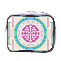 Mandala Design Arts Indian Mini Toiletries Bags by Nexatart