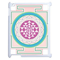 Mandala Design Arts Indian Apple Ipad 2 Case (white) by Nexatart
