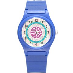 Mandala Design Arts Indian Round Plastic Sport Watch (s) by Nexatart