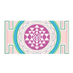 Mandala Design Arts Indian Satin Wrap by Nexatart