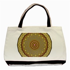 Mandala Art Ornament Pattern Basic Tote Bag (two Sides) by Nexatart