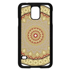 Mandala Art Ornament Pattern Samsung Galaxy S5 Case (black)