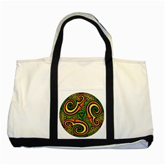 Celtic Celts Circle Color Colors Two Tone Tote Bag
