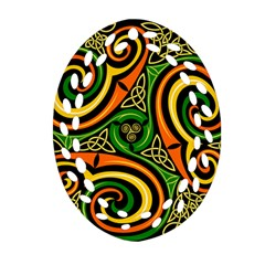 Celtic Celts Circle Color Colors Oval Filigree Ornament (two Sides) by Nexatart