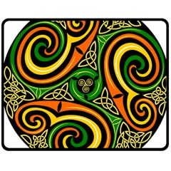 Celtic Celts Circle Color Colors Double Sided Fleece Blanket (medium)  by Nexatart