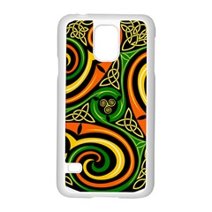 Celtic Celts Circle Color Colors Samsung Galaxy S5 Case (white)