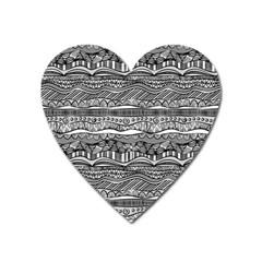 Ethno Seamless Pattern Heart Magnet by Nexatart