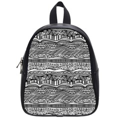 Ethno Seamless Pattern School Bag (small)