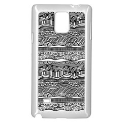 Ethno Seamless Pattern Samsung Galaxy Note 4 Case (white) by Nexatart