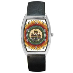 Building Mandala Palace Barrel Style Metal Watch