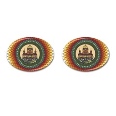 Building Mandala Palace Cufflinks (oval)