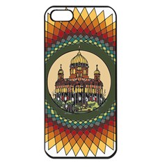 Building Mandala Palace Apple Iphone 5 Seamless Case (black)