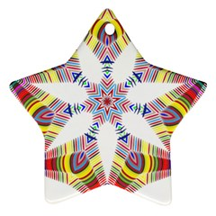 Colorful Chromatic Psychedelic Ornament (star)