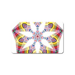 Colorful Chromatic Psychedelic Magnet (name Card)