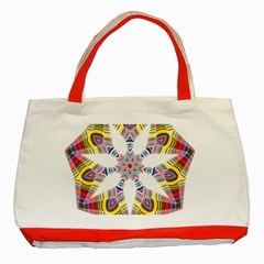 Colorful Chromatic Psychedelic Classic Tote Bag (red)