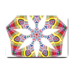 Colorful Chromatic Psychedelic Small Doormat  by Nexatart