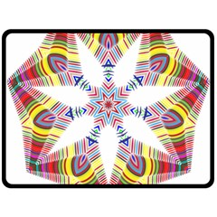 Colorful Chromatic Psychedelic Fleece Blanket (large)  by Nexatart