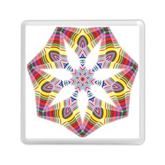 Colorful Chromatic Psychedelic Memory Card Reader (square)  by Nexatart