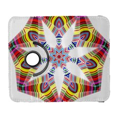 Colorful Chromatic Psychedelic Galaxy S3 (flip/folio) by Nexatart