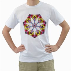 Colorful Chromatic Psychedelic Men s T Shirt (white)