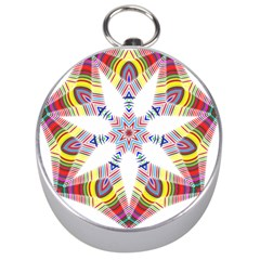 Colorful Chromatic Psychedelic Silver Compasses