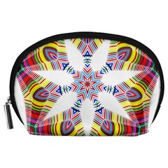 Colorful Chromatic Psychedelic Accessory Pouches (large)  by Nexatart