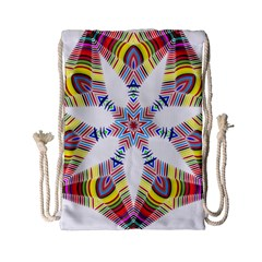 Colorful Chromatic Psychedelic Drawstring Bag (small) by Nexatart