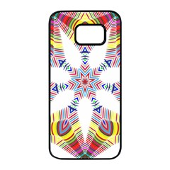 Colorful Chromatic Psychedelic Samsung Galaxy S7 Edge Black Seamless Case by Nexatart
