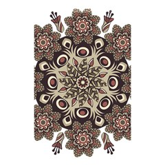 Mandala Pattern Round Brown Floral Shower Curtain 48  X 72  (small)  by Nexatart