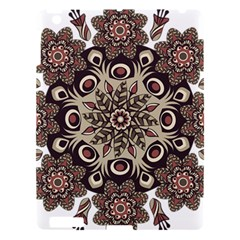 Mandala Pattern Round Brown Floral Apple Ipad 3/4 Hardshell Case