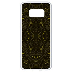 Majestic Pattern F Samsung Galaxy S8 White Seamless Case by MoreColorsinLife