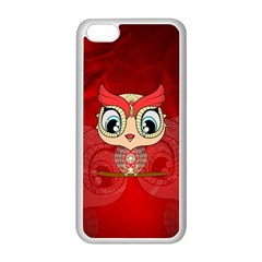 Cute Colorful  Owl, Mandala Design Apple Iphone 5c Seamless Case (white) by FantasyWorld7
