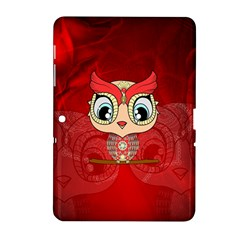 Cute Colorful  Owl, Mandala Design Samsung Galaxy Tab 2 (10 1 ) P5100 Hardshell Case  by FantasyWorld7