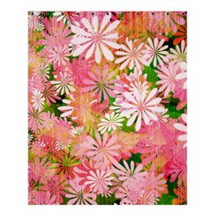 Pink Flowers Floral Pattern Shower Curtain 60  X 72  (medium)  by paulaoliveiradesign