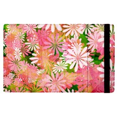 Pink Flowers Floral Pattern Apple Ipad Pro 12 9   Flip Case
