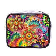 Colorful Abstract Pattern Kaleidoscope Mini Toiletries Bags by paulaoliveiradesign