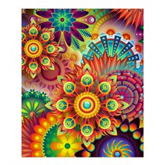 Colorful Abstract Pattern Kaleidoscope Shower Curtain 60  X 72  (medium)  by paulaoliveiradesign
