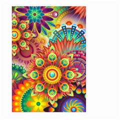 Colorful Abstract Pattern Kaleidoscope Large Garden Flag (two Sides) by paulaoliveiradesign