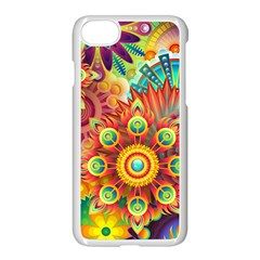 Colorful Abstract Pattern Kaleidoscope Apple Iphone 7 Seamless Case (white)