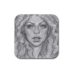 Dreaded Princess  Rubber Square Coaster (4 Pack)  by shawnstestimony