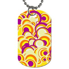 Retro Pattern 1973f Dog Tag (one Side) by MoreColorsinLife